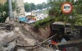 Обвалення шляхопроводу в Києві: перекрита частина вулиці
