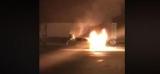 Біля київської заправки згоріло авто